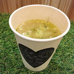 キャンディベースドライブインカフェのスープは日替わりでご提供